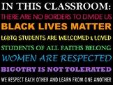 Classroom Values Door Sign