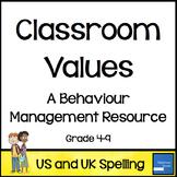 Classroom Values Behaviour Management System
