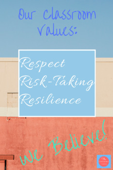 Classroom Values Poster