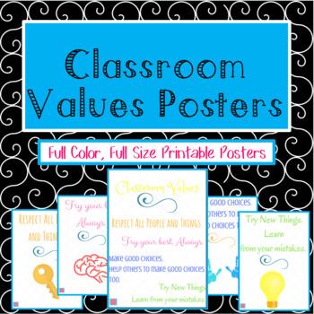 Classroom Values Poster Set