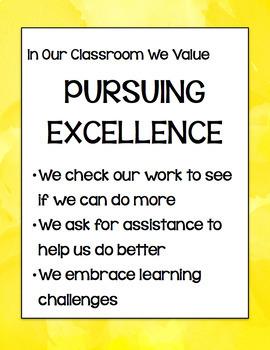 Classroom Values Posters Bundle