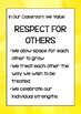 Classroom Values Posters Set One