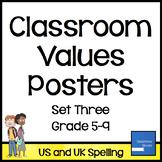 Classroom Values Posters Set Three