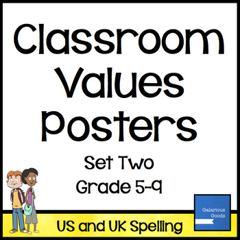 Classroom Values Posters - Set Two