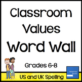 Classroom Values Word Wall