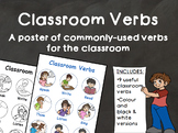 Classroom Verbs Poster - Full Colour & Black and white