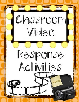 Classroom Video / Movie Response Pack - No Prep! Ready to use!