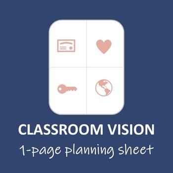 Classroom Vision Planning Worksheet (Template)