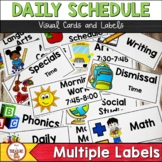 Classroom Visual Daily Schedule and Subject Labels