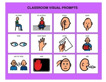 Classroom Visual Prompts - Autism VISUAL