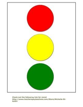 Classroom Visual:  Red Light, Green Light