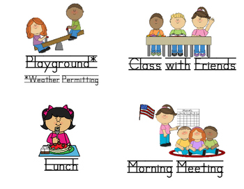 Classroom Visual Schedule