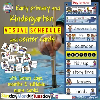 Visual Schedule and Center Cards