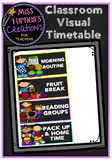 Classroom Visual Timetable/ Schedule Cards