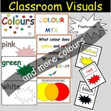 Colours Wall Displays, Word Wall Flashcards and Activities