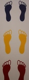 Classroom Visuals Line up feet (set of 5)