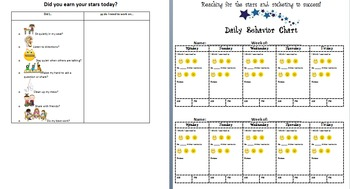 Classroom Visuals, PBIS Chart, & Self-Monitoring Checklists w. visuals