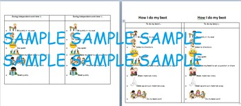 Classroom Visuals, PBIS Chart, & Self-Monitoring Checklist