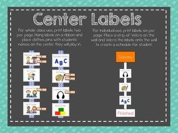 Classroom Visuals for Early Childhood Classrooms