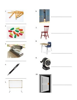 Classroom Vocab, Alphabet Practice