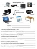 Classroom Vocab/ Il y a