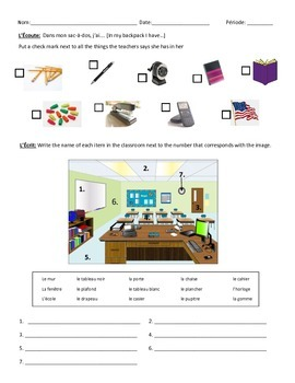Classroom Vocab Quiz 1