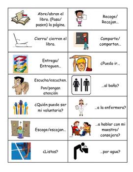 Classroom Vocabulary Review Handout