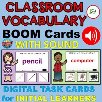 Classroom Vocabulary with Sound for ESL /EAL / ELL