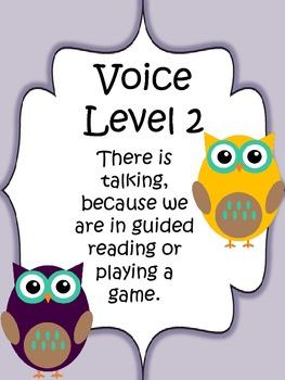 Classroom Voice Level Chart {Owl Themed}