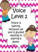 Classroom Voice Level Chart {Pink Chevron}