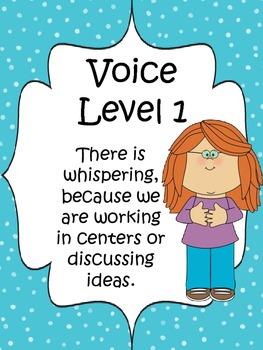 Classroom Voice Level Chart {Small Polka Dots}
