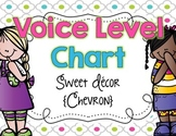 Classroom Voice Level Chart {Sweet Decor Chevron}