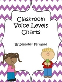 Classroom Voice Level Charts {Purple Chevron}
