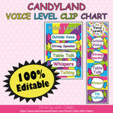 Classroom Voice Level Clip Chart in Candy Land Theme - 100% Editable