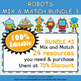 Classroom Voice Level Clip Chart in Robot Theme - 100% Editble