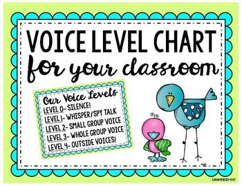 Classroom Voice Level Freebie!