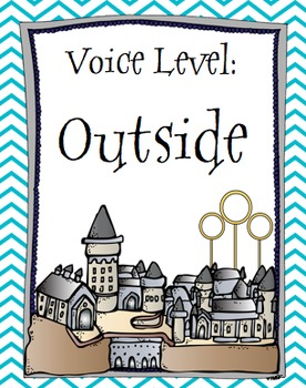 Classroom Voice Level Poster Set - Harry Potter theme