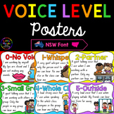 Classroom Voice Level Posters - New South Wales Font