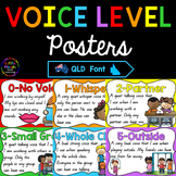 Classroom Voice Level Posters - Queensland Font