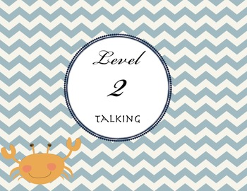Classroom Voice Levels Nautical theme - back to school