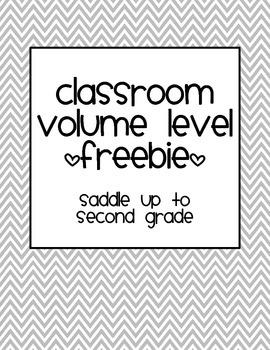 Classroom Volume Level Freebie
