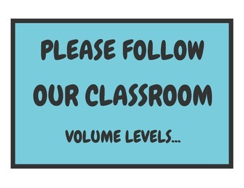 Classroom Volume Levels Chart