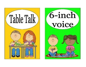Classroom Volume Management Visuals (pairs with Decibella)
