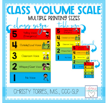 Classroom Volume Scale & Activity Set for Children with Autism or Special Needs