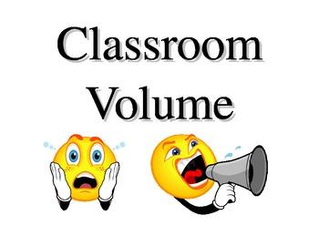 Classroom Volume Sign