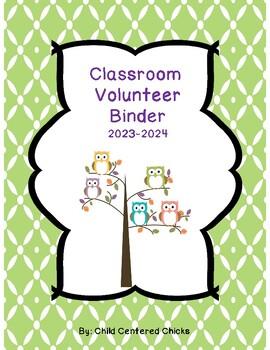 Classroom Volunteer COMPLETE Toolkit - Green Owl Theme 2017-2018