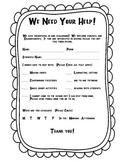 Classroom Volunteer Form