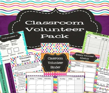 Classroom Volunteer Pack