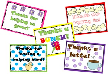 Classroom Volunteer Thank You