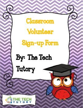 Classroom Volunteers Google Form
